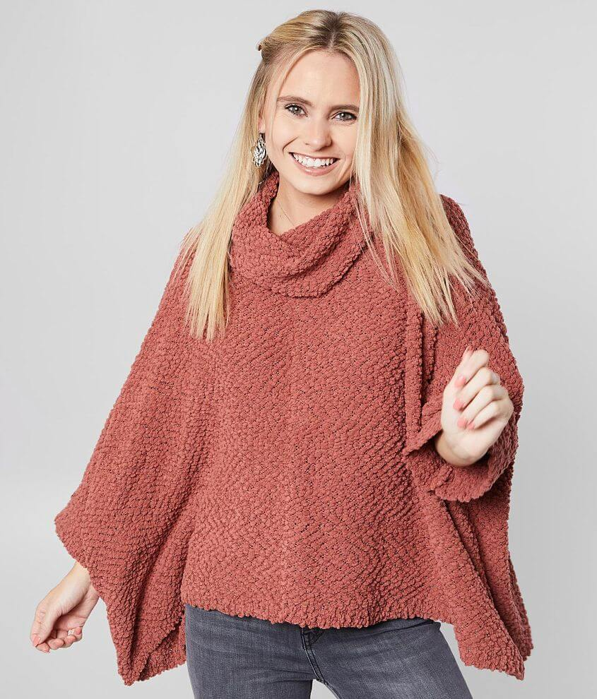 BKE Oversized Popcorn Pullover Sweater front view