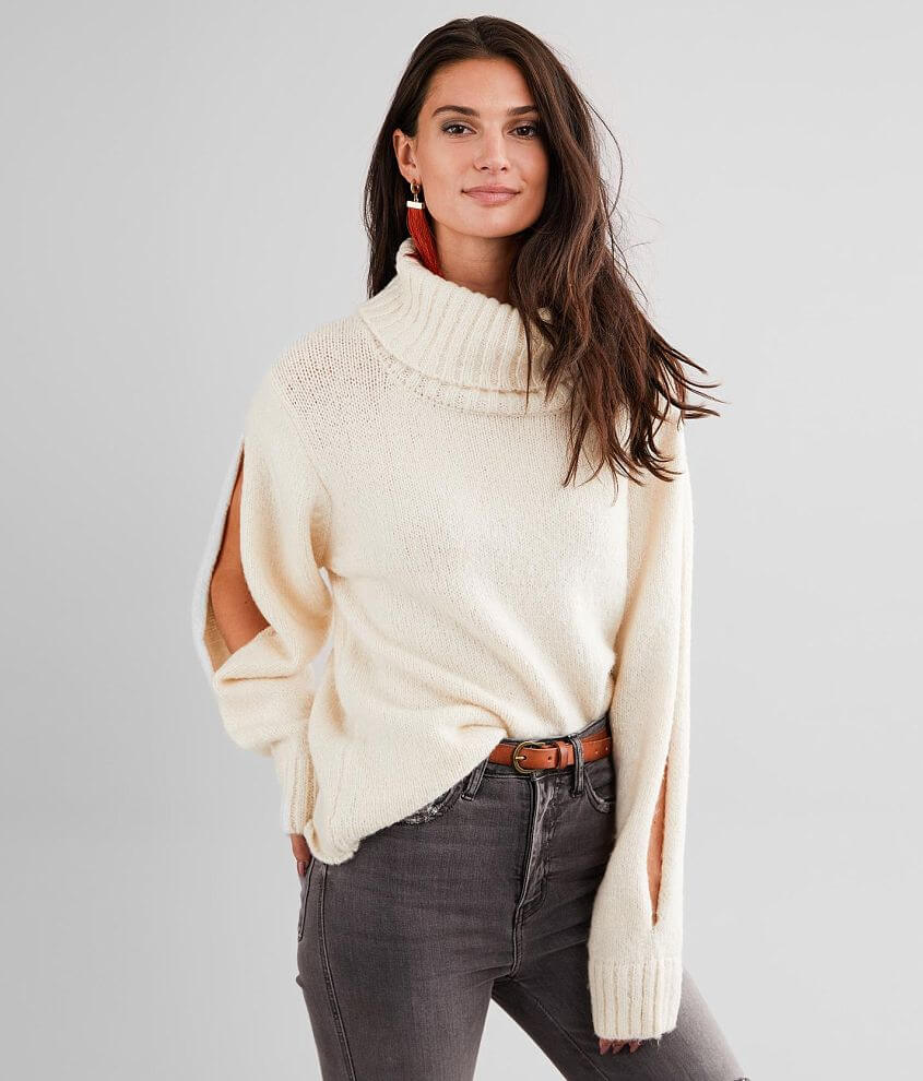 BKE Turtleneck Pullover Sweater front view
