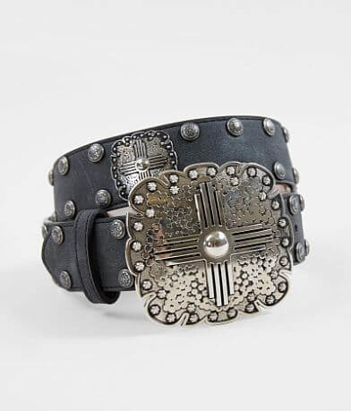 Angel Ranch Conch Leather Belt