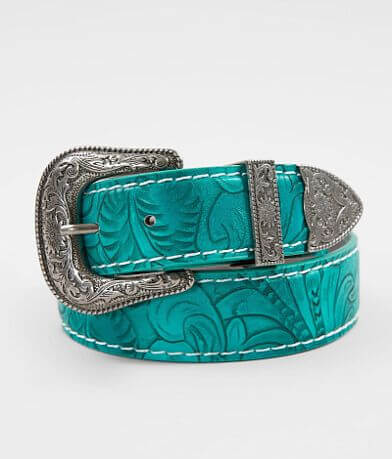 Angel Ranch Turquoise Leather Belt