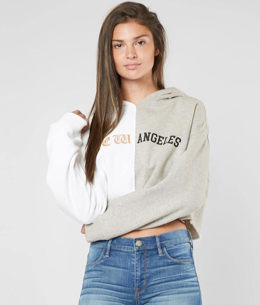 KENDALL + KYLIE New Angeles Hooded Sweatshirt front view