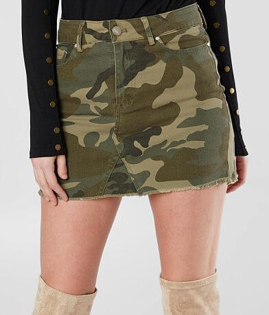 KENDALL + KYLIE Camo Denim Skirt