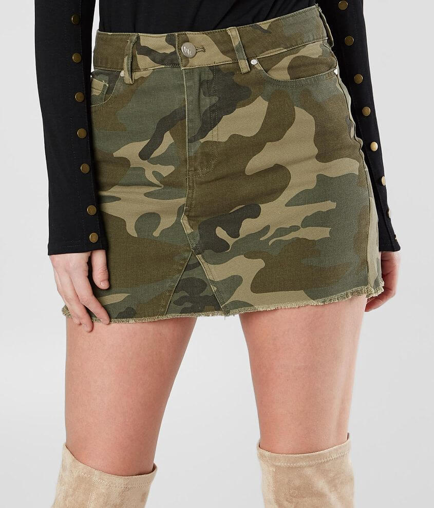 3ccde12a2 KENDALL + KYLIE Camo Denim Skirt - Women's Skirts in Camo | Buckle