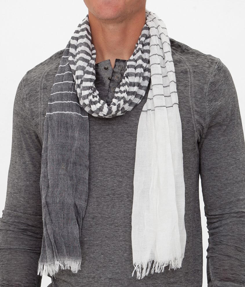 33 Point 3 Striped Scarf front view