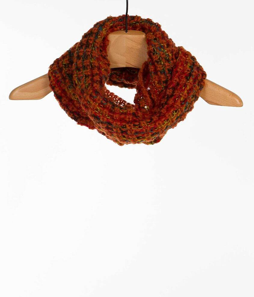 33 Point 3 Open Weave Infinity Scarf front view