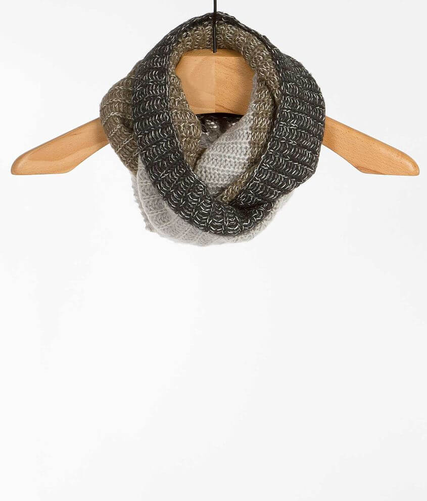 33 Point 3 Color Block Infinity Scarf front view