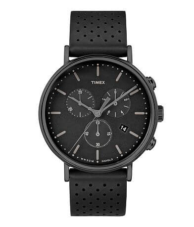 Timex Fairfield Chronograph Leather Watch