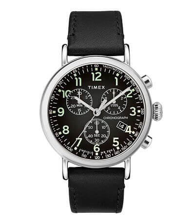 Timex Standard Chronograph Leather Watch