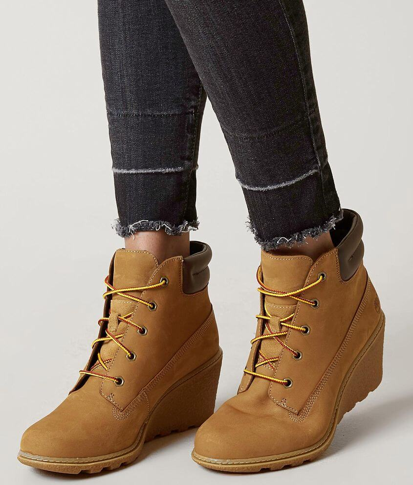 Timberland® Amston Leather Wedge Boot - Women s Shoes in Wheat ... 909aeb58dea