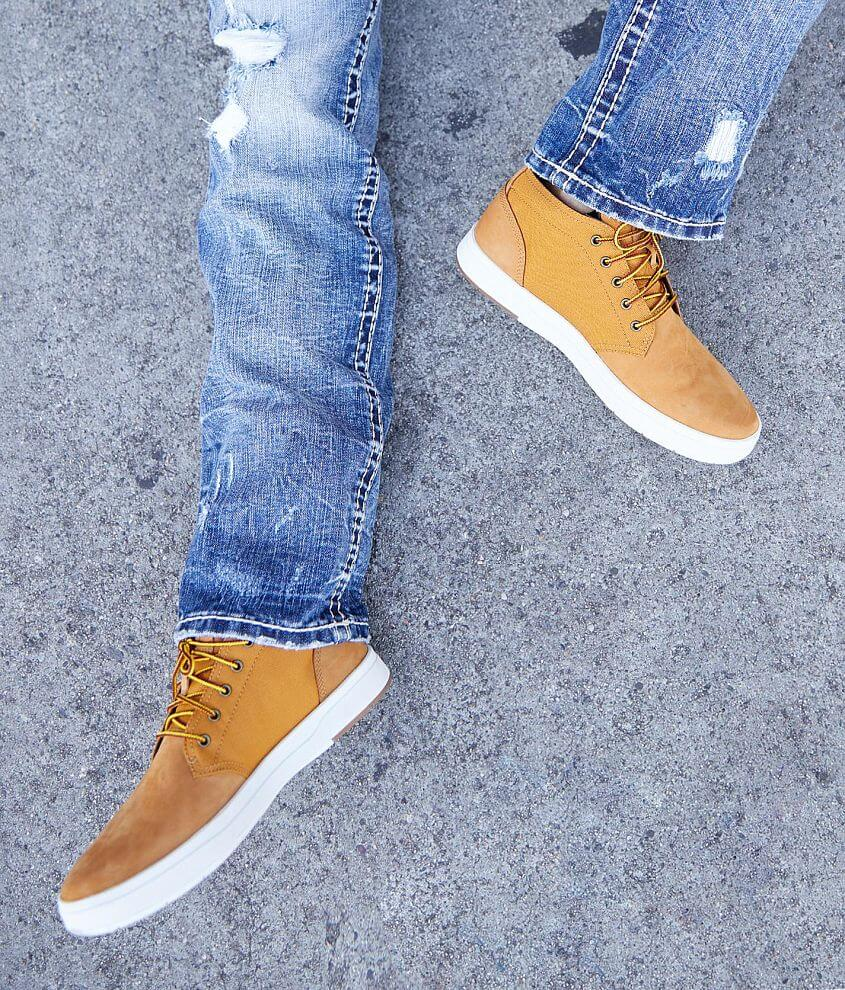 Timberland® Davis Square Leather Shoe Men's Shoes in Wheat