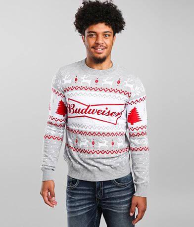 tipsyelves Budweiser® Ugly Christmas Sweater