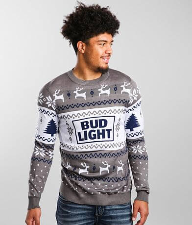 tipsyelves Bud Light® Ugly Christmas Sweater