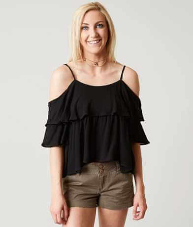 Timing Cold Shoulder Top