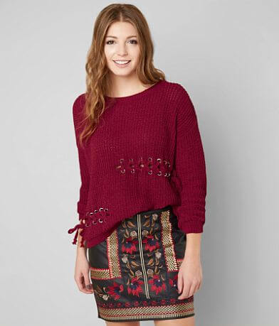 Timing Lace-Up Sweater