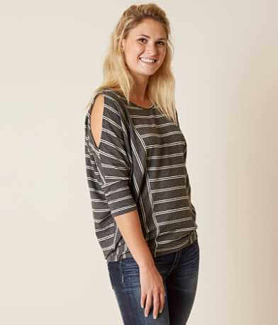 Coverstitched® Ribbed Top