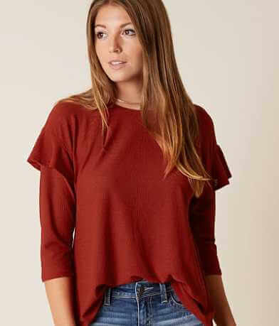 Coverstitched® Ruffle Top