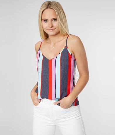 Timing Striped Polka Dot Tank Top