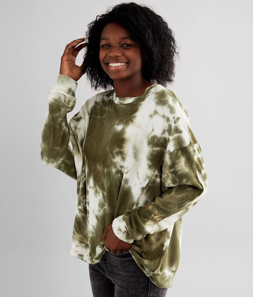 Gilded Intent Tie Dye Oversized Pullover front view
