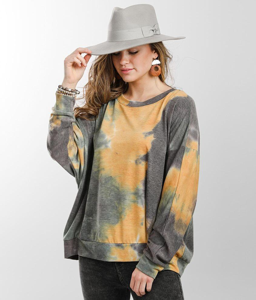 Gilded Intent Oversized Tie Dye Pullover front view
