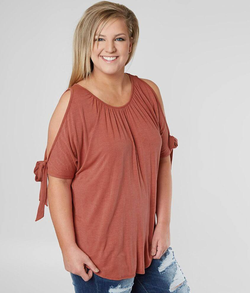 63dfb7b358c29 Misia Cold Shoulder Top - Plus Size Only - Women s Shirts Blouses in ...