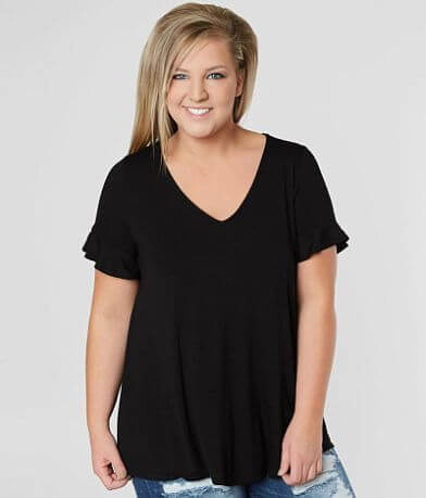 Misia Back Crochet Top - Plus Size Only