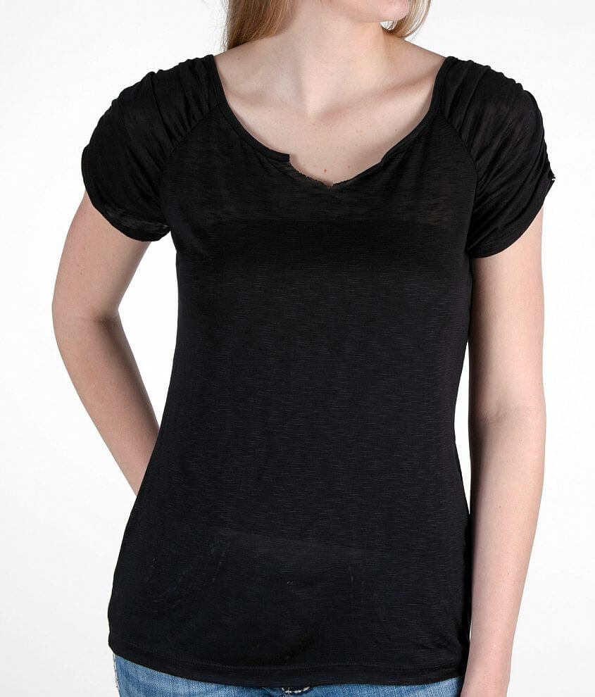 BKE Slit Neck Top front view