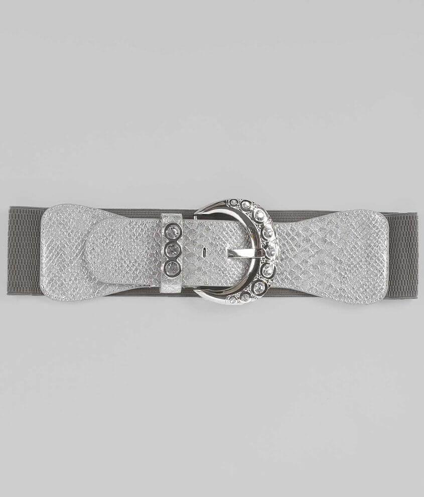 Daytrip Foiled Snake Print Belt front view