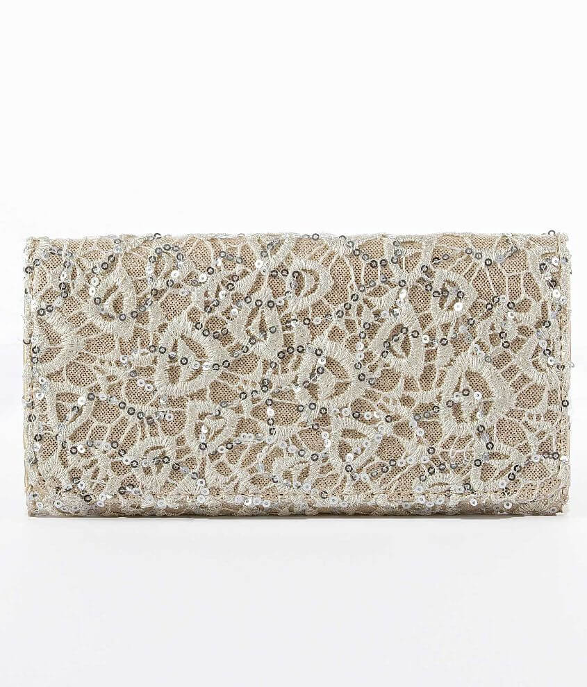 Lace & Sequin Overlay Wallet front view