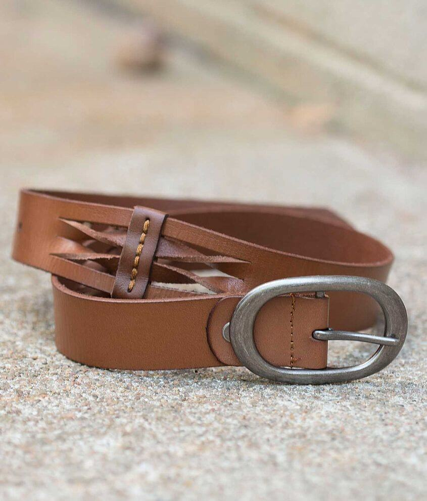BKE Twisted Leather Belt front view