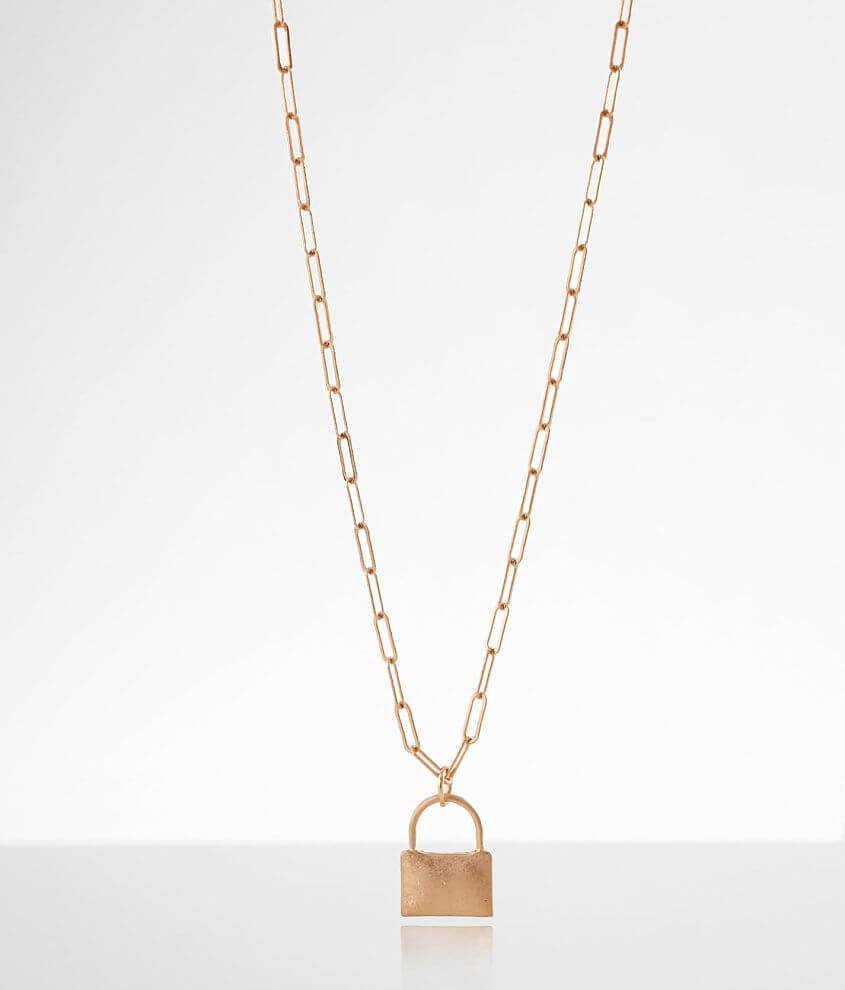 BKE Padlock Necklace front view