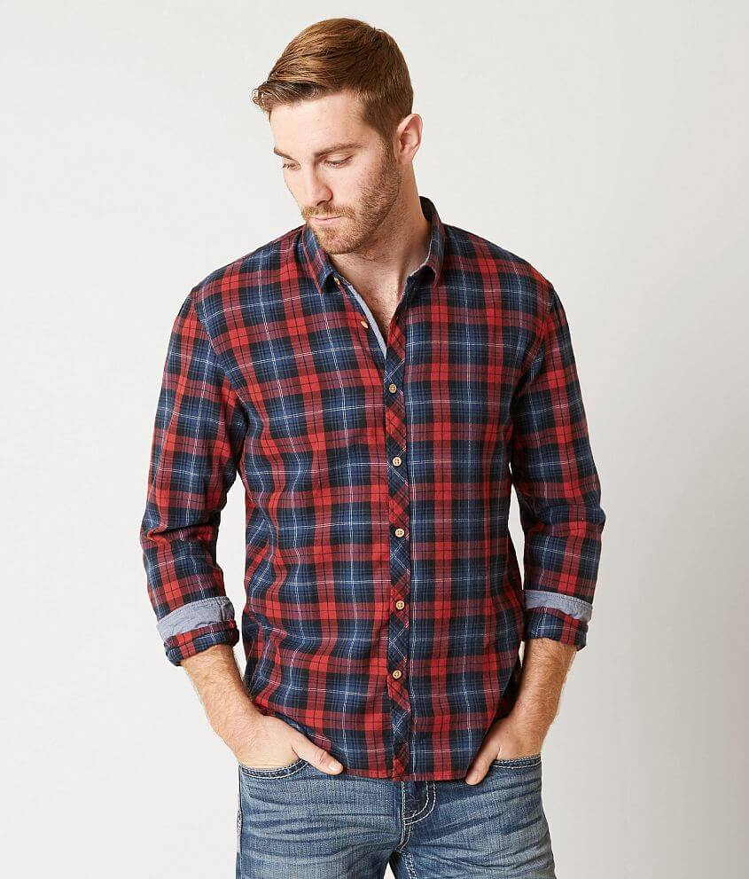 official site buying new info for Tom Tailor Plaid Shirt - Men's Shirts in Indian Red | Buckle