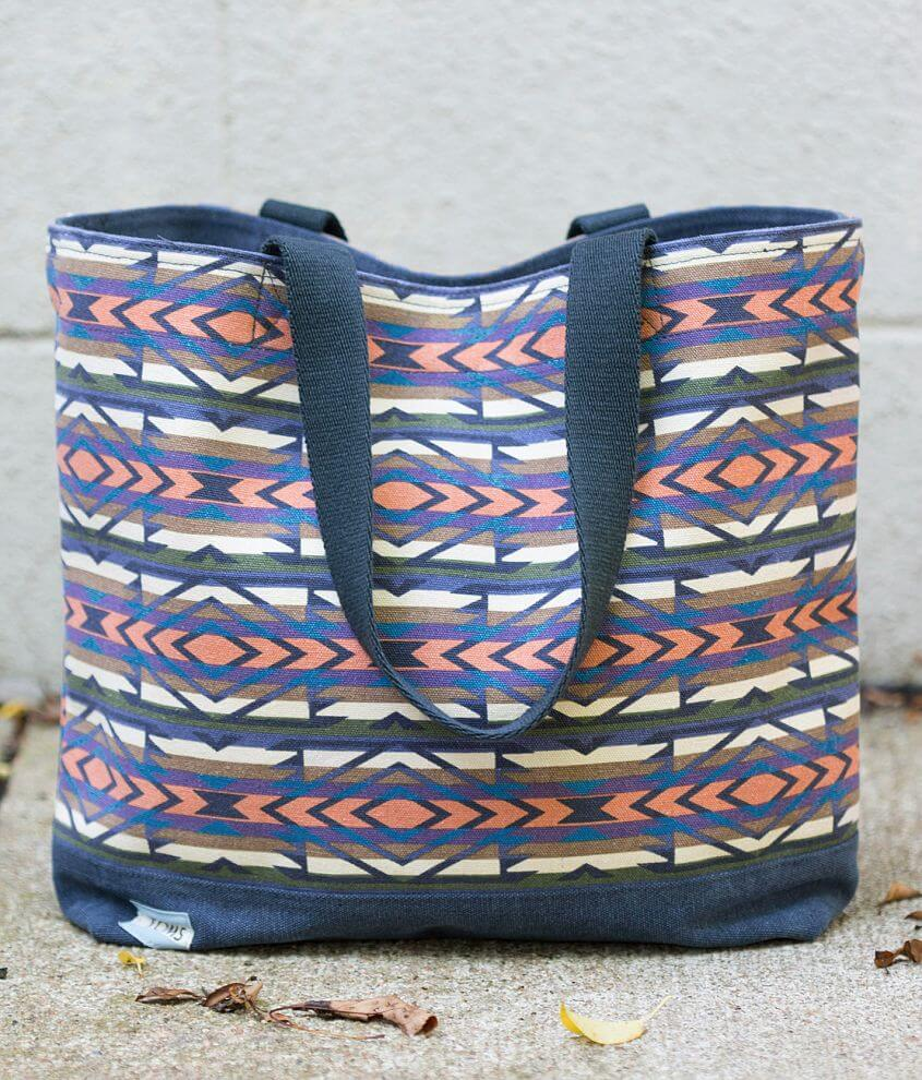 TOMS Geometric Canvas Tote front view