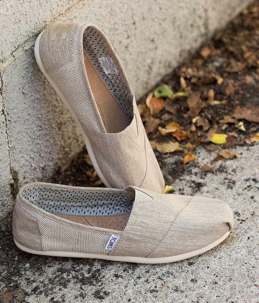 TOMS Natural Texture Blocked Shoe front view