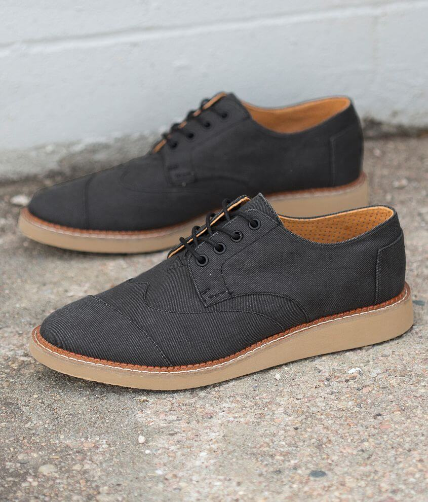 TOMS Brogue Aviator Twill Shoe front view