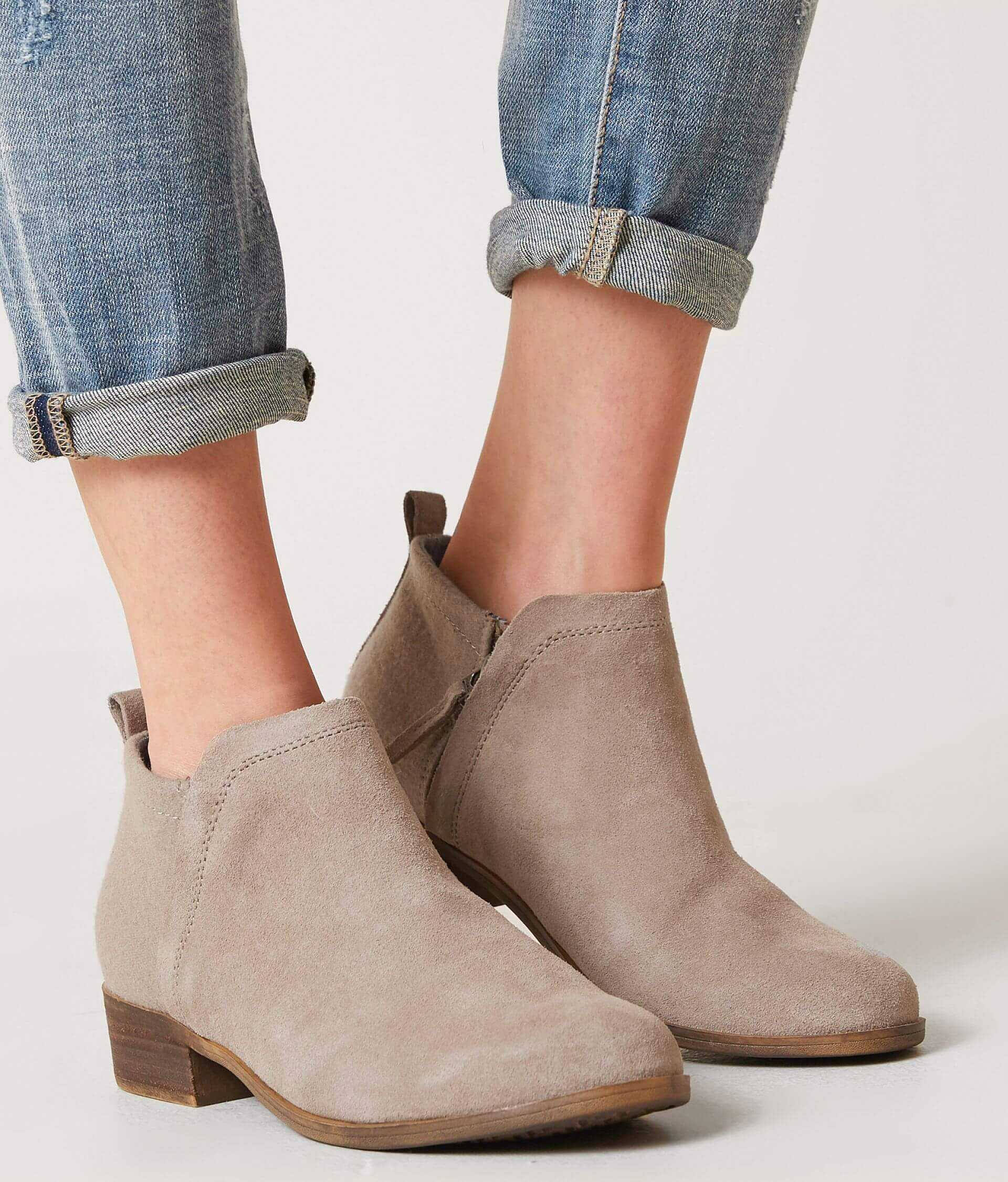 c819f7e43d5 TOMS Deia Leather Ankle Boot - Women's Shoes in Desert Taupe Suede ...