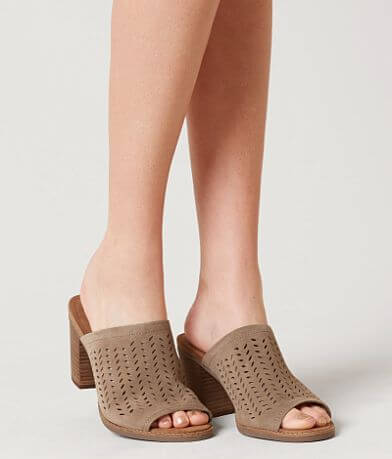 TOMS Majorca Leather Heeled Mule Sandal
