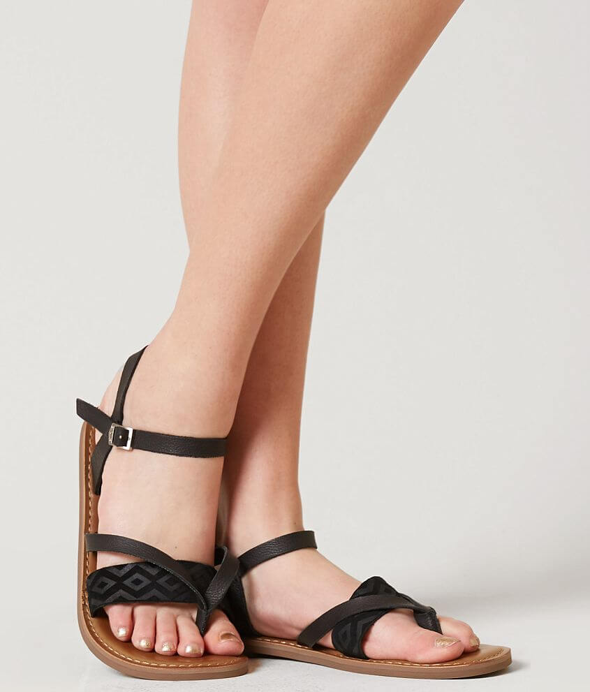 f2a4dba3e7c2 TOMS Lexie Leather Sandal - Women s Shoes in Black Leather
