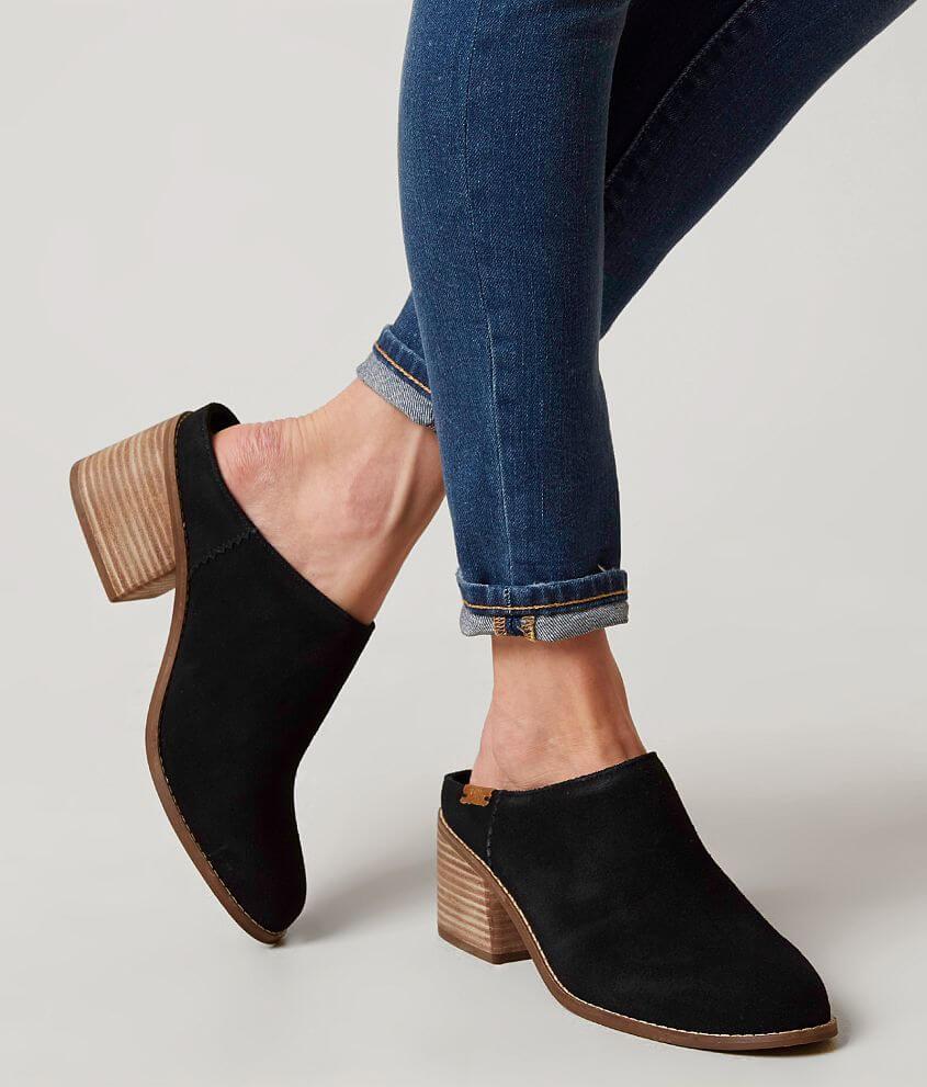 714e83d014b TOMS Leila Mule Shoe - Women s Shoes in Black Suede