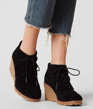 TOMS Desert Leather Wedge Shoe