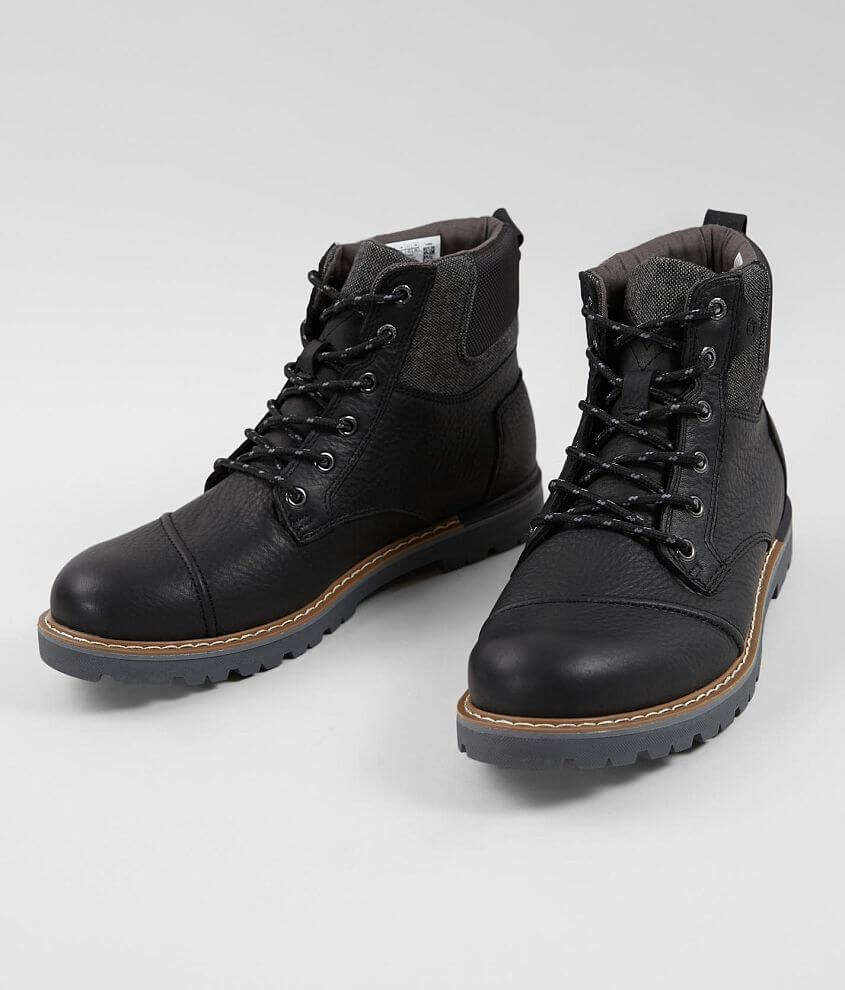 1a9a9d572b3 TOMS Ashland Waterproof Leather Boot - Men s Shoes in Black