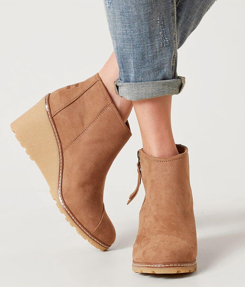 TOMS Desert Leather Wedge Shoe Women