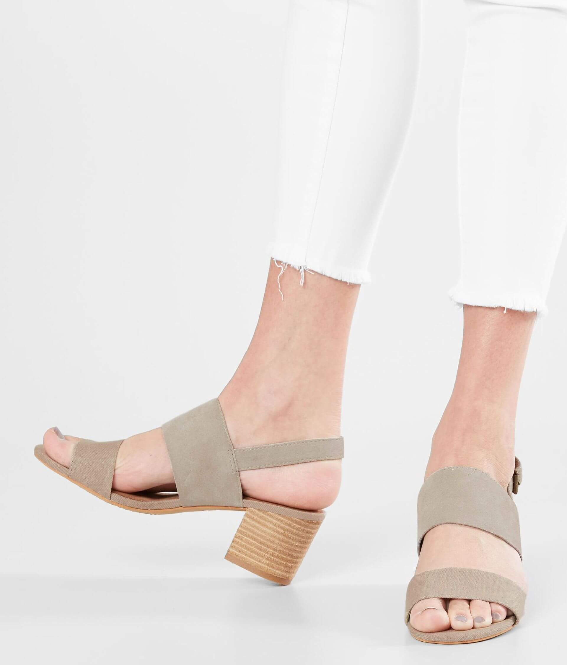 08db5162fd3 TOMS Poppy Leather Heeled Sandal - Women s Shoes in Desert Taupe ...