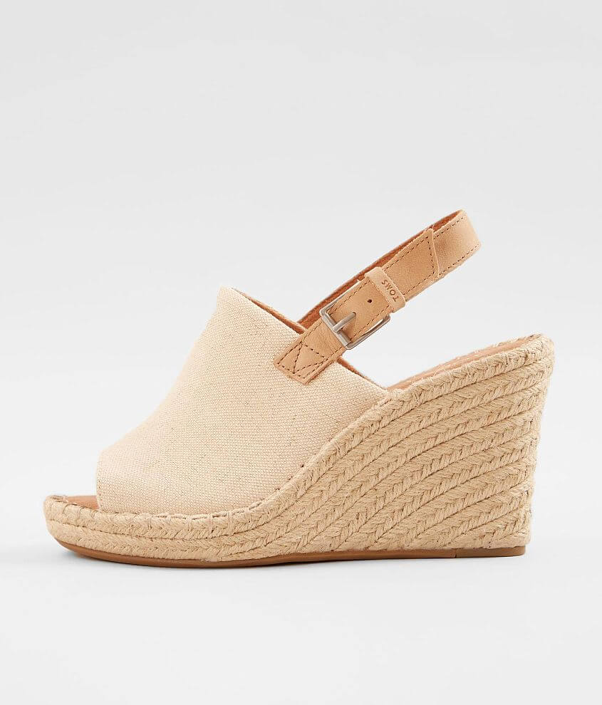 0671c7c25187 TOMS Monica Leather Wedge Heeled Sandal - Women s Shoes in Natural ...