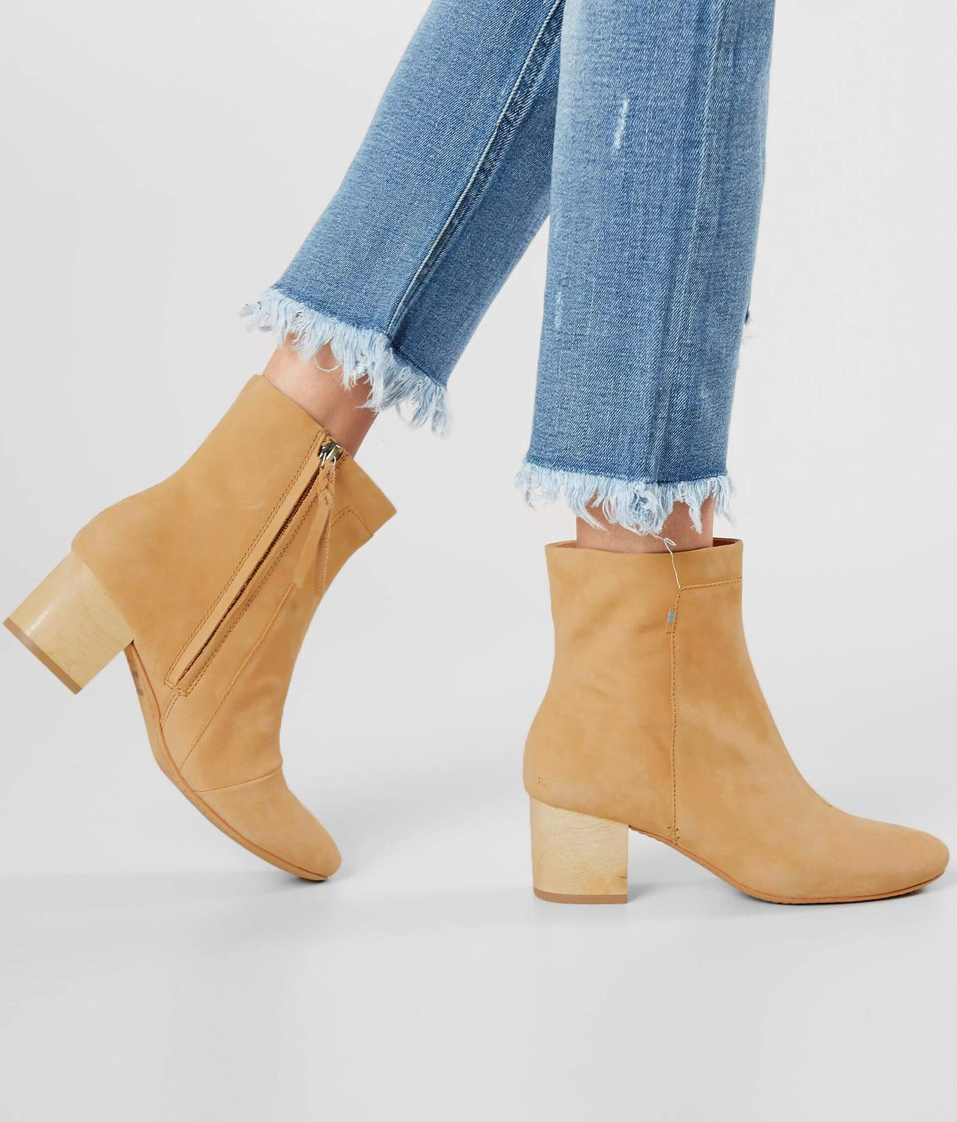 3e6651b7d99 TOMS Evie Suede Ankle Boot - Women's Shoes in Honey Nubuck | Buckle