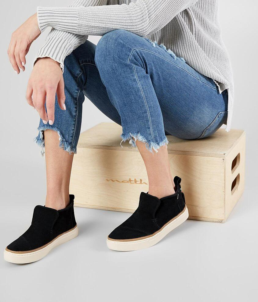 30e0f64c317 TOMS Paxton Leather Shoe - Women's Shoes in Black Suede | Buckle