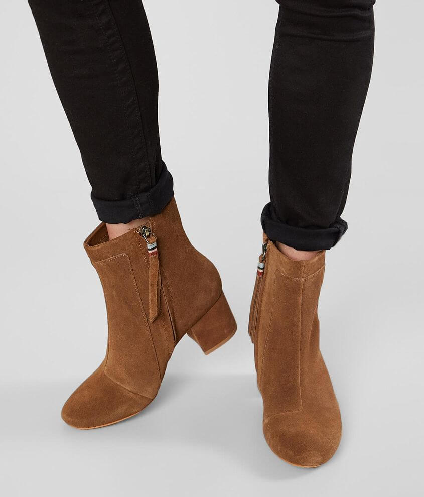 36c2ed568f1 TOMS Evie Suede Ankle Boot - Women's Shoes in Dark Amber Suede | Buckle