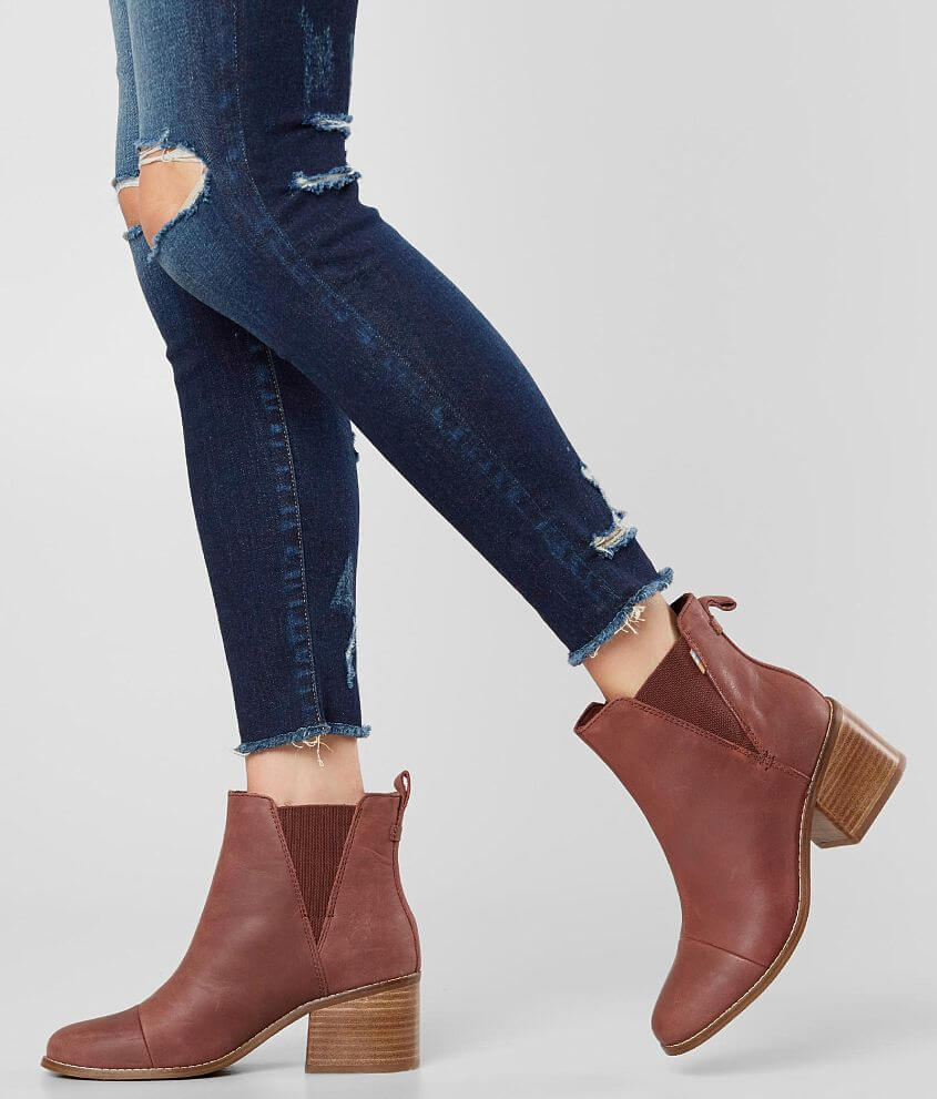 b171ec65a31 TOMS Esme Leather Ankle Boot - Women s Shoes in Burnt Henna Leather ...