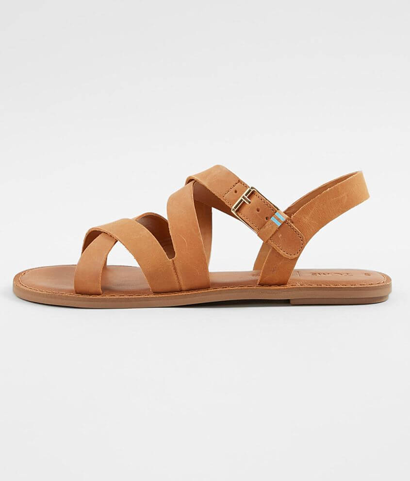 2ba2038514a TOMS Sicily Leather Sandal - Women's Shoes in Tan | Buckle