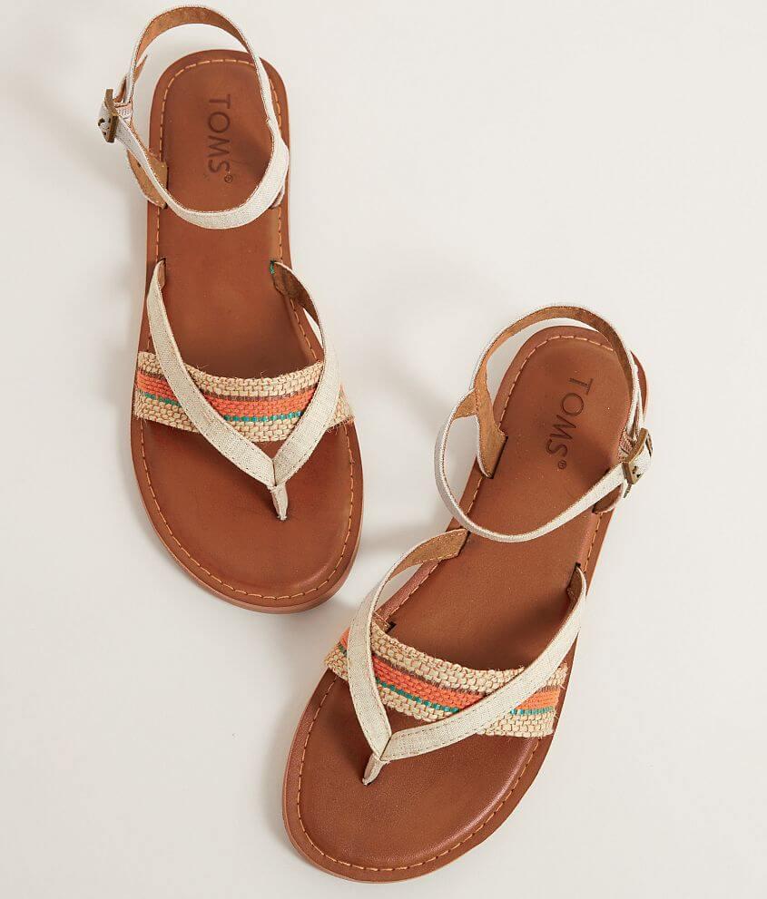 bcef890140b3 TOMS Lexie Sandal - Women s Shoes in Natural Multi Woven
