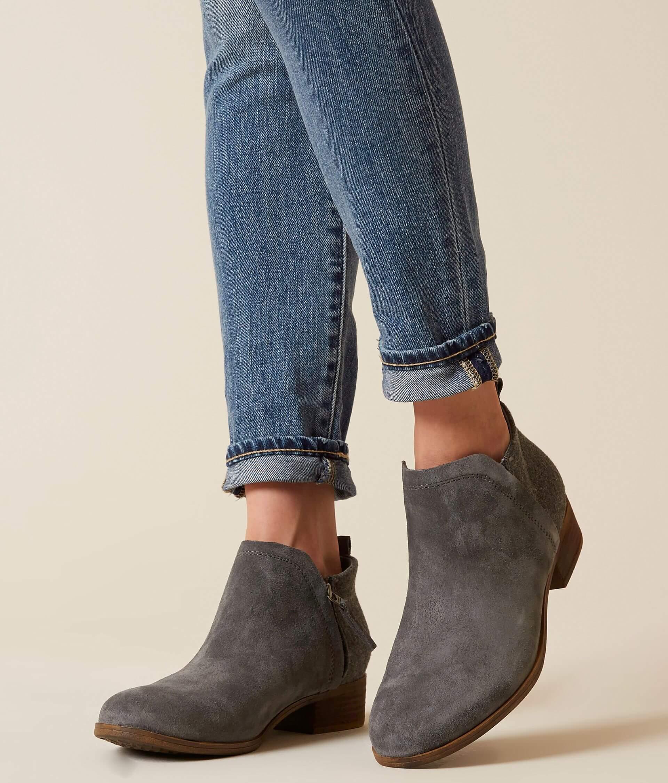 63d9ed84cba TOMS Deia Leather Ankle Boot - Women's Shoes in Castlerock Grey ...